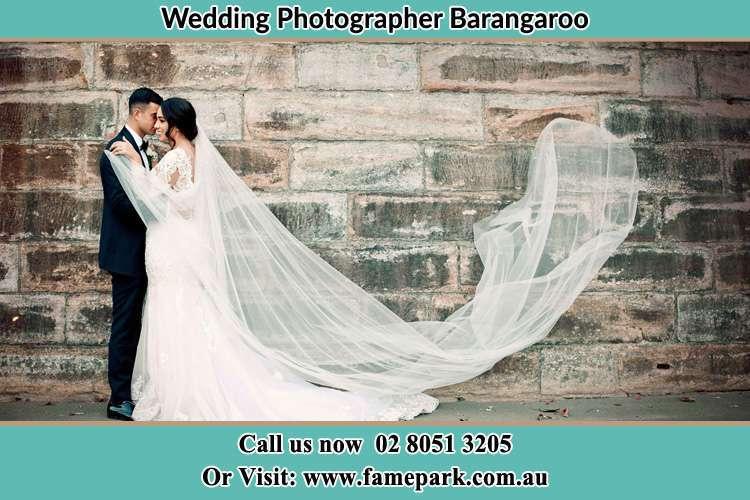 Bride and Groom near the wall Barangaroo
