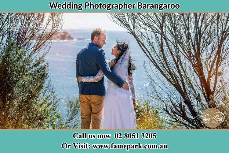 Bride and Groom near the seashore barangaroo NSW 2000
