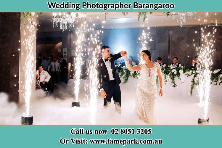 Bride and Groom at the dance floor Barangaroo NSW 2000