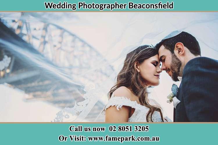 Bride and Groom under the bridge Beaconsfield NSW 2015
