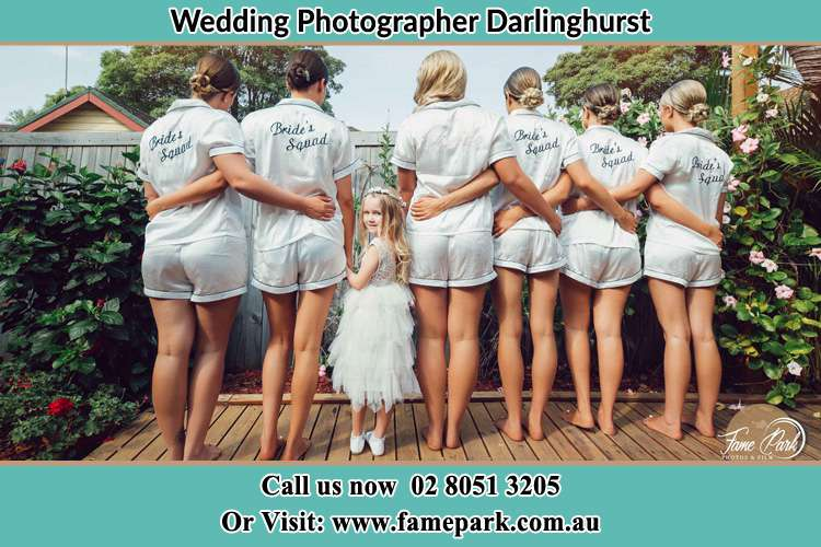 Bride and her secondary sponsors at the garden Darlinghurst NSW 2010