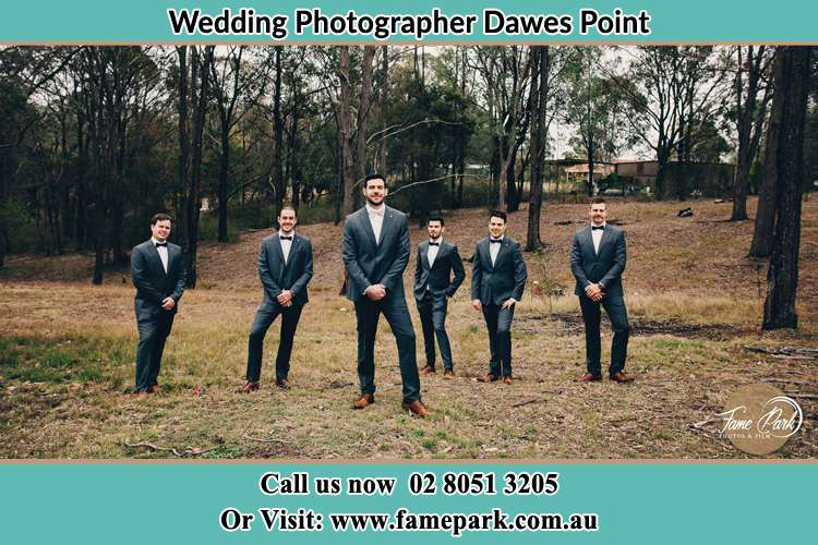 Groom at the Bush with his secondary sponsors Dawes Point