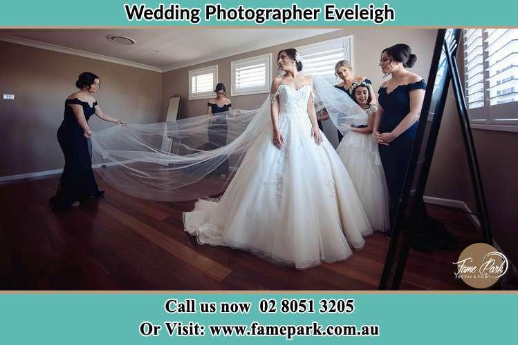Bride getting ready Eveleigh