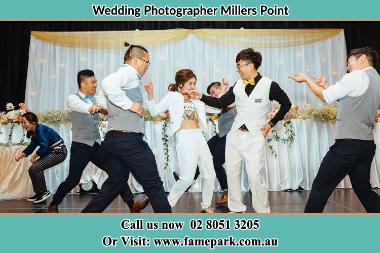 The couples dance in the dance floor Millers Point
