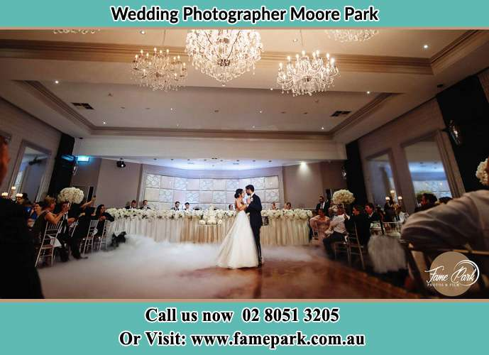 Bride and Groom dance at the dance floor Moore Park