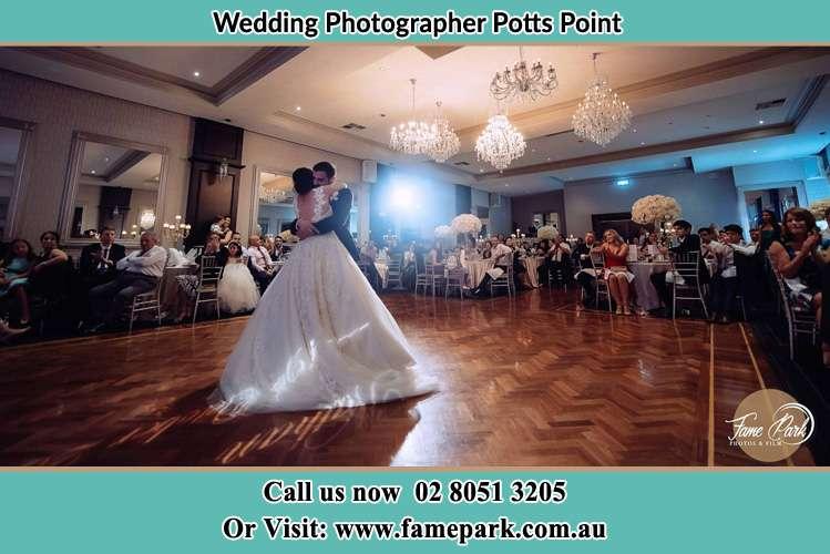 Bride and Groom Dancing in the dance floor Potts Point