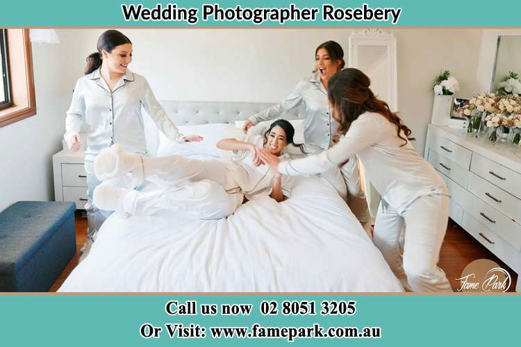 Bride and Bride's maids at the bedroom Rosebery NSW 2018