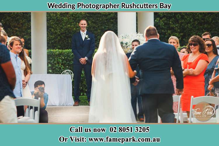 Bride and Groom Walking in the aisle Rushcutters Bay NSW 2011
