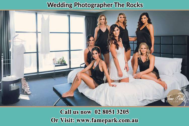 Bride and her Bride's maids at the bed The Rocks NSW 2000