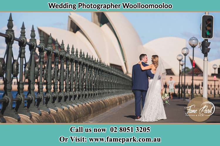 Bride and Groom at the Bridge Woolloomooloo NSW 2011